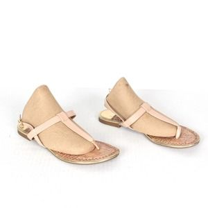 FIRM! Sam & Libby Nude thong sandals Size 6